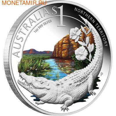 "Австралия 1 доллар 2010.""Празднование Австралии"" ""Бостон"" ""Крокодил"" (фото)"