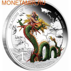 Тувалу 1 доллар 2012.Дракон Китайский - Драконы из легенд.Арт.000310945516/60 (фото)