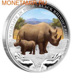 Тувалу 1 доллар 2012.Носорог серия Дикая природа в опасности.Арт.60 (фото)
