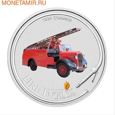 """Острова кука 1 доллар 2006.""""COMMER 1934""""-""""Пожарные машины мира"""".Арт.000200046728 (фото)"""