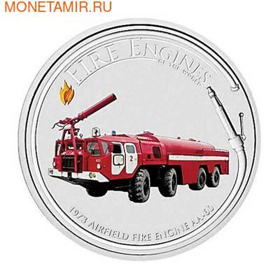"""Острова кука 1 доллар 2006. """"AIRFIELD FIRE ENGINE AA-60 1973""""-""""Пожарные машины мира"""".Арт.000200046729 (фото)"""
