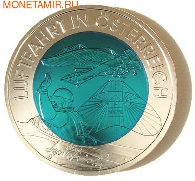 """Австрия 25 евро 2007. """"Австрийская авиация"""" (фото)"""