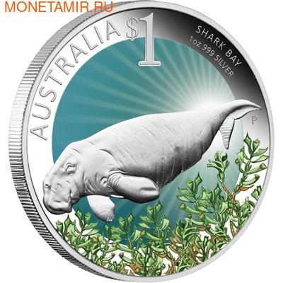 Австралия 1 доллар 2012. Залив Акул (фото)