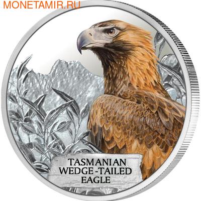 Тувалу 1 доллар 2012 Тасманийский клинохвостый орел - Исчезающие виды.Арт.60 (фото)
