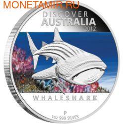Австралия 1 доллар 2012. Китовая акула (фото)