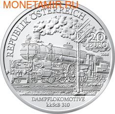 Австрия 20 евро 2008. Паровоз kkStB 310. (фото)