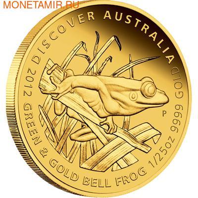 Австралия 5 долларов 2012.Золотая серия - Открой Австралию - Литория.Арт.60 (фото)