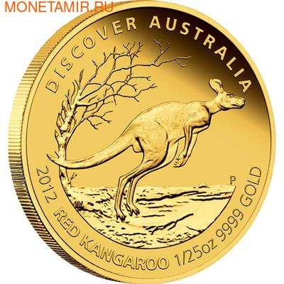 Австралия 5 долларов 2012.Золотая серия - Открой Австралию - Красный Кенгуру.Арт.60 (фото)