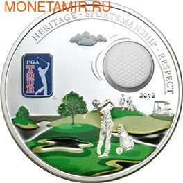 Острова Кука 5 долларов 2012.Гольф - PGA TOUR.Арт.000266240067/60 (фото)