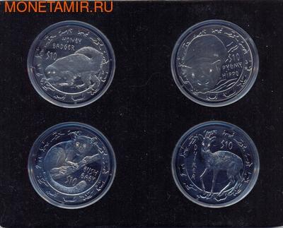 4 coin Set Animals Dimond eyes (фото)