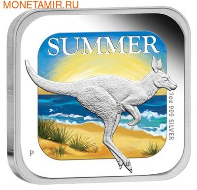 Австралия 1 доллар 2013. Времена года - лето. Кенгуру (фото)