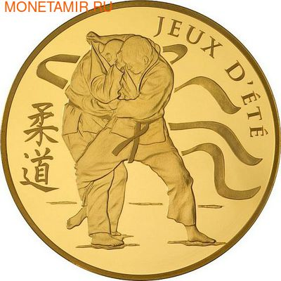 Франция 50 евро 2012 Дзюдо Олимпийские игры (France 50E 2012 Judo Olympic Games Gold Coin).Арт.90 (фото)