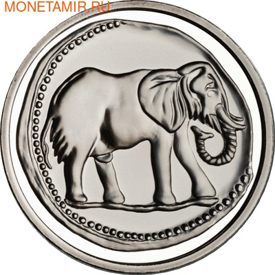 Сокровища нумизматики-Слон. Испания 10 евро 2011.
