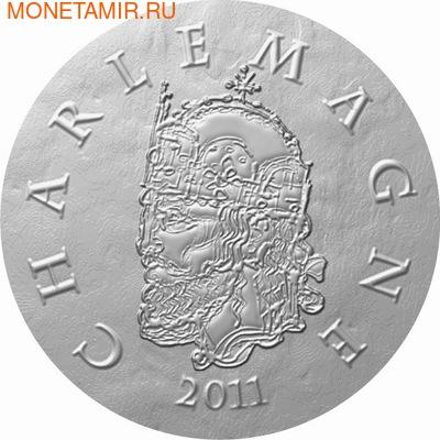 Франция 10 евро 2011. 1500 лет французской истории-Король Карл I Великий (фото)