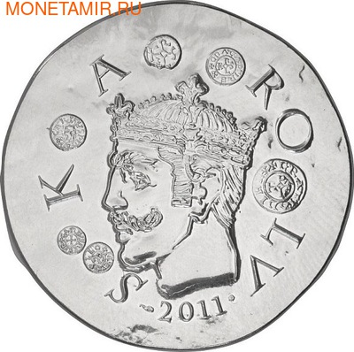 Франция 10 евро 2011. 1500 лет французской истории-Король Карл II Лысый (фото)
