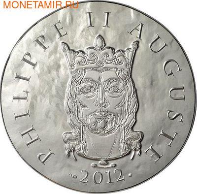Франция 10 евро 2012. 1500 лет французской истории-Король Филипп II Август (фото)