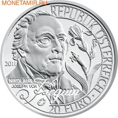 """Австрия 20 евро 2011. """"Европейские исследователи""""-""""Николаус Жакен"""" (фото)"""
