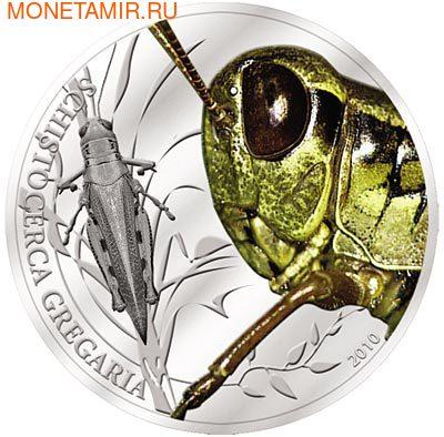 Палау 2 доллара 2010.Пустынная саранча - Мир насекомых.Арт.000140041250/60 (фото)