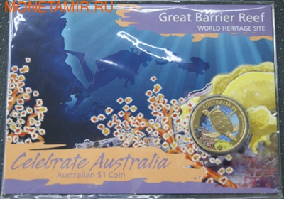 Редкие животные Австралии (серия Celebrate Australia)-Черепаха.