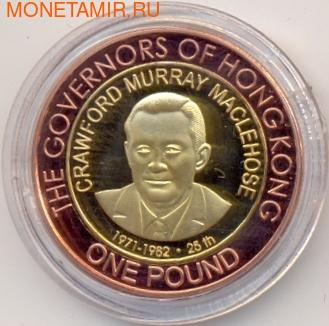 Олдерни 1 фунт 2007 Мюррей Маклхаус Губернаторы Гонконга Биметалл (Alderney 1 pound 2007 C.M. Maclehose Governors of Hong Kong BM).Арт.000029316606/55D (фото)