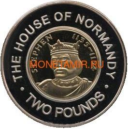 Гернси 2 фунта 2006 Стефан Нормандская династия Королевские династии Англии (Guernsey 2 pounds 2006 Stefan Norman Dynasty Royal Dynasties of England).Арт.257492/85D (фото)
