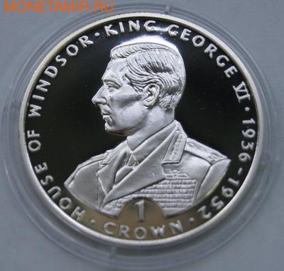Гибралтар 1 крона 1993. King George VI. (фото)