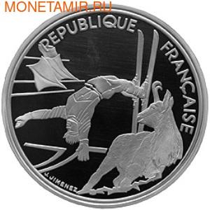 Франция 100 франков 1990. XVI Зимние Олимпийские игры 1992 года в Альбервиле. Фрисайл. Франция 100 франков 1990. (фото)