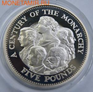 Столетие Монархии. Гернси 5 фунтов 2000. (фото)