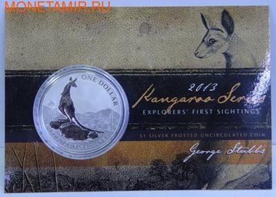 Кенгуру. (Буклет). Австралия 1 доллар 2013. (фото)