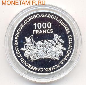 Центральный Африканский Союз 1000 франков 2002.Арт.000280042351/60 (фото)