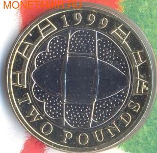 Великобритания 2 фунта 1999.Чемпионат мира по регби 1999.Арт.000023141684/60 (фото)