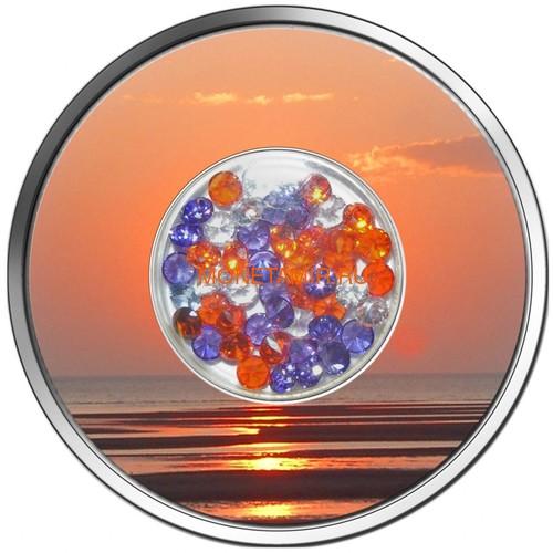 Фиджи 10 долларов 2012 Бриллиантовый закат (Fiji 10$ 2012 Diamond Sunset).Арт.000330941603/60 (фото)