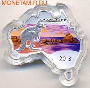 Материк. Кенгуру. Австралия 1 доллар 2013. (фото)