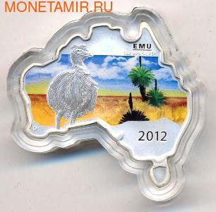 Материк. Страус Эму. Австралия 1 доллар 2012. (фото)