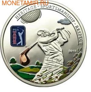 Острова Кука 5 долларов 2013.Гольф - PGA TOUR.Арт.000100042646/60 (фото)