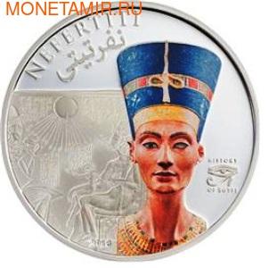Острова Кука 5 долларов 2013.Нефертити - История Египта.Арт.000165042677/60 (фото)