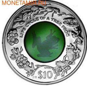 Британские Виргинские Острова 10 долларов 2011.Лягушка (кристалл).Арт.000204642794/60 (фото)