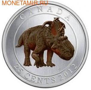Канада 25 центов 2012.Динозавр – Пахиринозавр серия Доисторические животные. (фото)