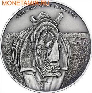 Конго 1000 франков 2012.Носорог.Арт.000385342421/60 (фото)