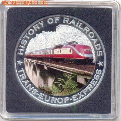 Либерия 5 долларов 2011. История железных дорог. Транс-Европейский экспресс. (фото)