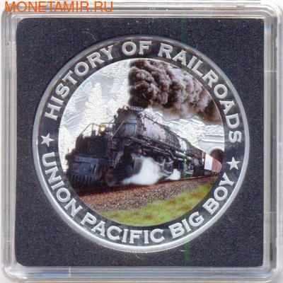 Либерия 5 долларов 2011. История железных дорог. США. Union Pacific «Big Boy». (фото)
