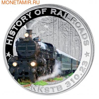 Либерия 5 долларов 2011. История железных дорог. Австрия. «Императорский поезд». (фото)
