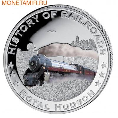 Либерия 5 долларов 2011. История железных дорог. Королевский Хадсон. (фото)