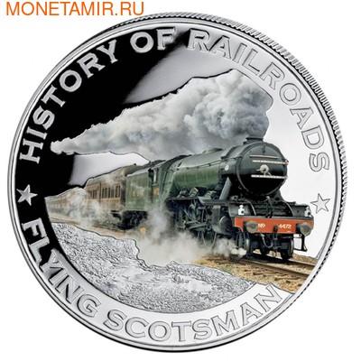Либерия 5 долларов 2011. История железных дорог. Летучий Шотландец. (фото)