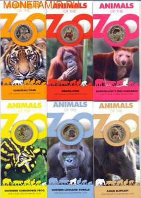 "Набор монет-""Животные зоопарка"". (фото)"