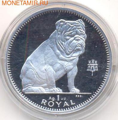 Гибралтар 1 роял 1996. Собака – Бульдог. (фото)