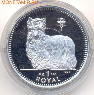 Гибралтар 1 роял 1997. Собака – Йоркширский терьер.