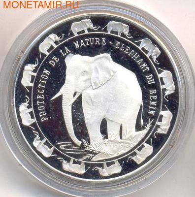 Слон. Бенин 6000 франков 1993. (фото)