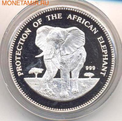 Слон. Экваториальная Гвинея 7000 франков 1993. (фото)