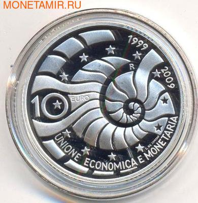 Экономический и валютный союз 1999-2009. Сан-Марино 10 евро 2009.